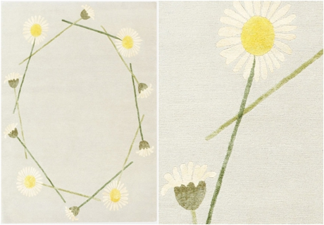 Botanical-inspired carpet by Deirdre Dyson - Daisy Chain