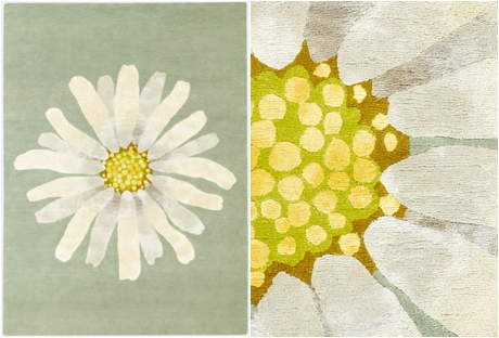 Botanical-inspired carpet by Deirdre Dyson - Daisy