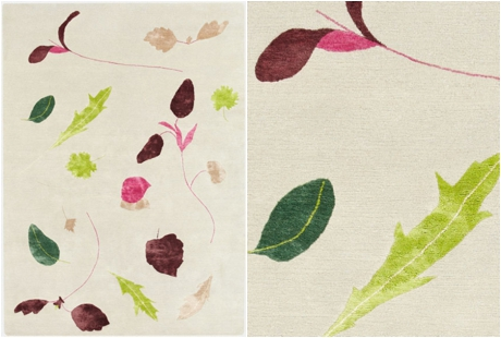 Botanical-inspired carpet by Deirdre Dyson - Salad Days