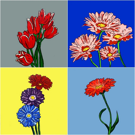Daisy Skye Flower Paintings