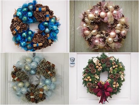 Jane Packer Delivered Christmas Door Wreaths