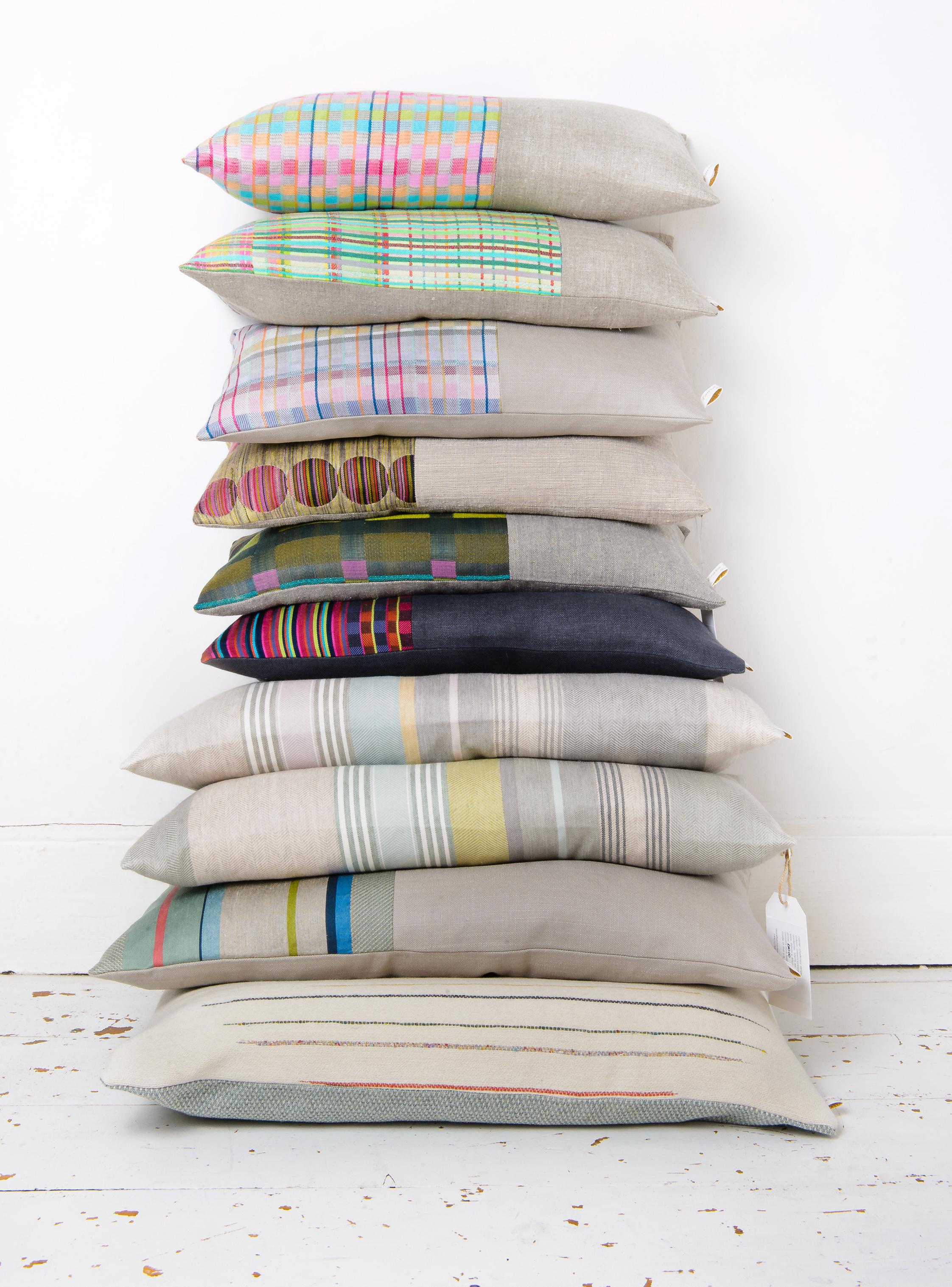 3.Cushion Stack 1_Laura Fletcher Textiles