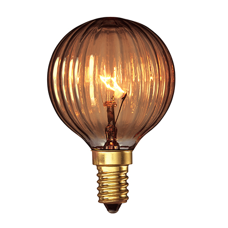John Lewis Calex Decorative Golf Ball  Bulb, Goldline Rustic, 25W SES, £4
