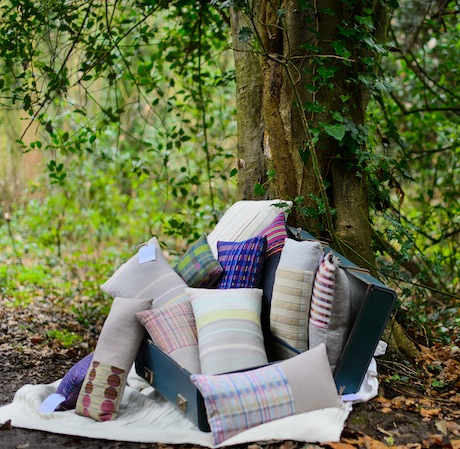 5.Cushions in the woods_Laura Fletcher Textiles