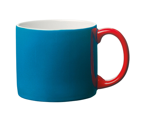 Toast's Yaki mug in dark turquoise and red