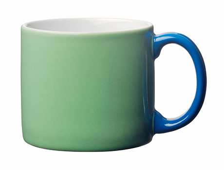 Toast's Yaki mug in peagreen and blue