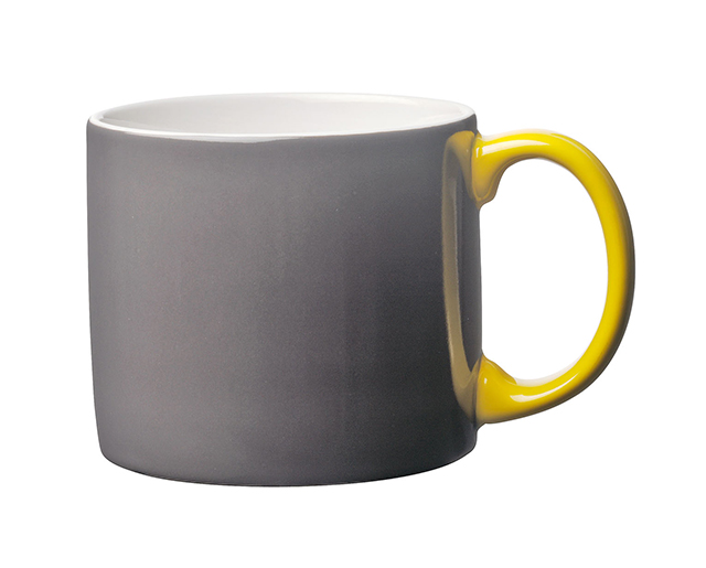 Toast's Yaki mug in slate grey and yellow
