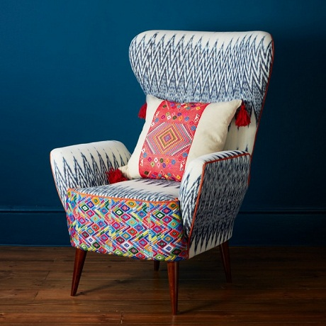 A Rum Fellow - Catarina Ikat Wing Chair