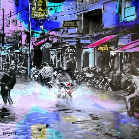 Affordable Art Online from Degree Art dotcom  -Ho Chi Minh City - A Flood on Bui