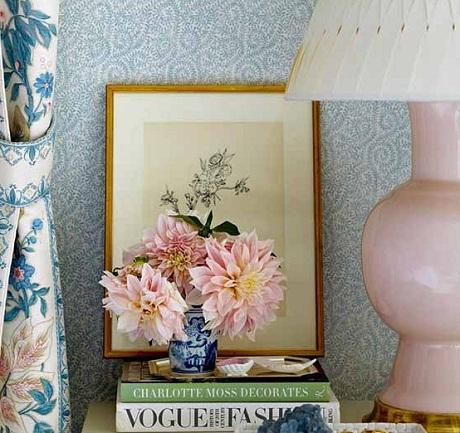 Bennison Fabrics - Wheatflower Fabric and Great Kasumi Wallpaper