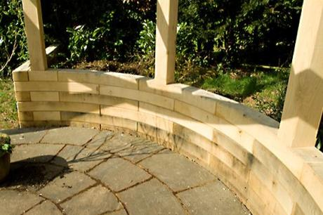 Bespoke curved wall by Trade oak building kits