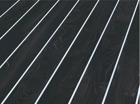Laminate flooring that s a little bit different heart home for Black and white laminate floor tiles