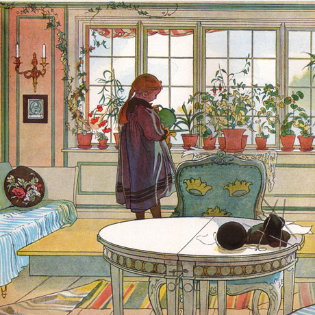 Detail from Blomsterfönstret by Carl Larsson