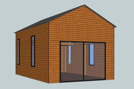 CAD drwg of bespoke garden room by Trade Oak Building Kits