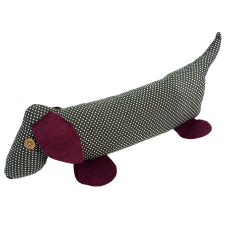 Catherine Tough sausage dog doorstop