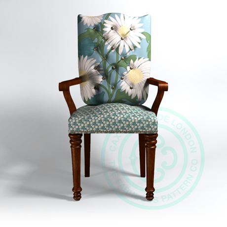 Caxton Rhode Hero_Chair_Daisy Aqua