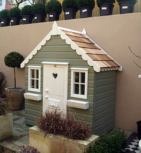 playhouse child friendly interior surfaces | Outdoor playhouses by The Playhouse Company — Heart Home