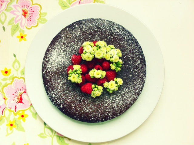 Chocolate-Raspberry Cake