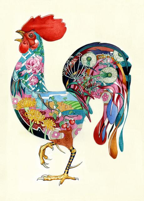 Cockerel-print-The-DM-Collection
