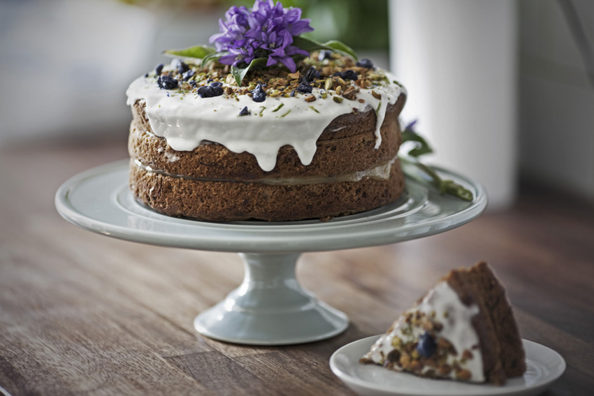 Courgette and Walnut Cake