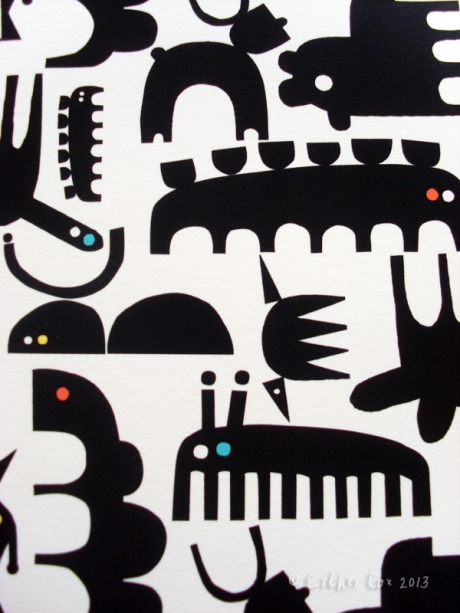 Creatures and critters print Esther Cox
