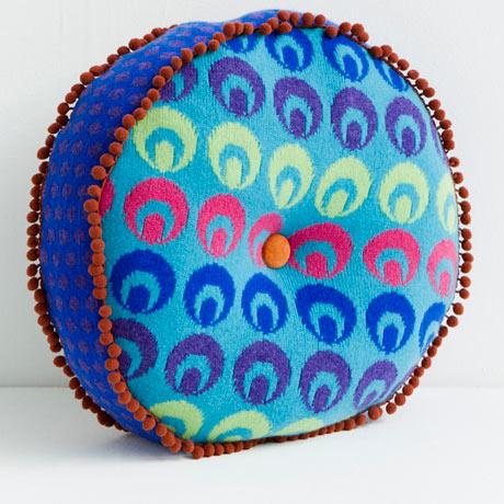 Deryn Relph Buttonbox round cushion