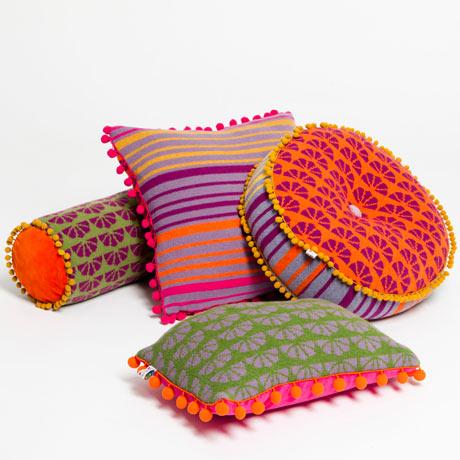 Deryn Relph Retro Rainbow Cushions