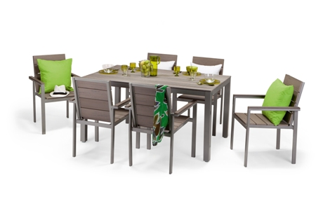 New Dorney garden table and chairs by Made