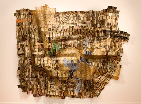 El Anatsui, Balkan, 2012. Photo Jonathan Greet, Image courtesy of October Gallery, London
