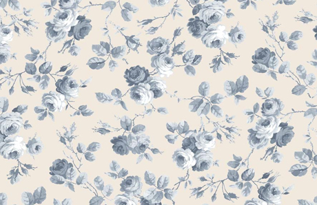Beautiful floral fabrics from elanbach heart home for Retro space fabric uk