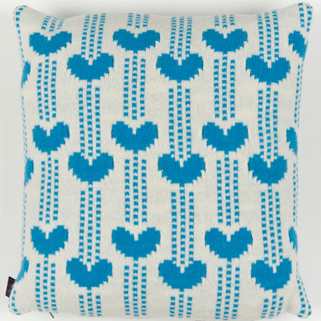 Elsy & Vine blue heart cushion