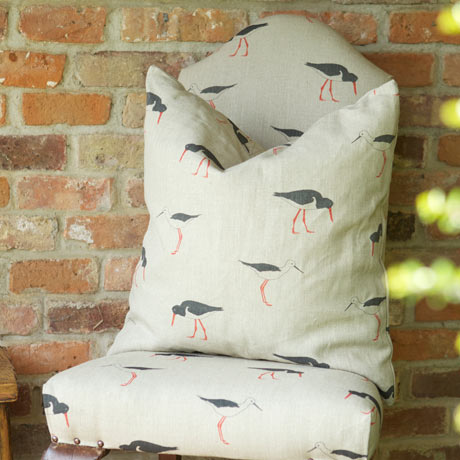 Emily Bond chair and cushion with bird print