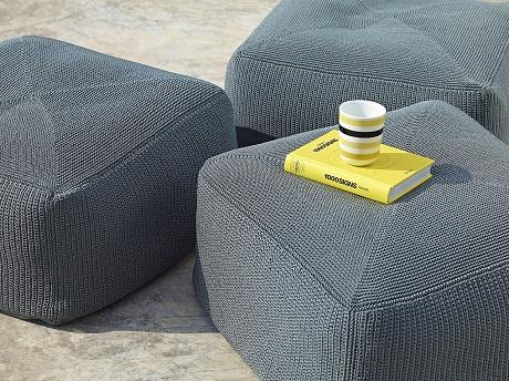 Go Modern Cane-line Divine hand-knitted footstools - detail shot - www.gomodern.co.uk (1)
