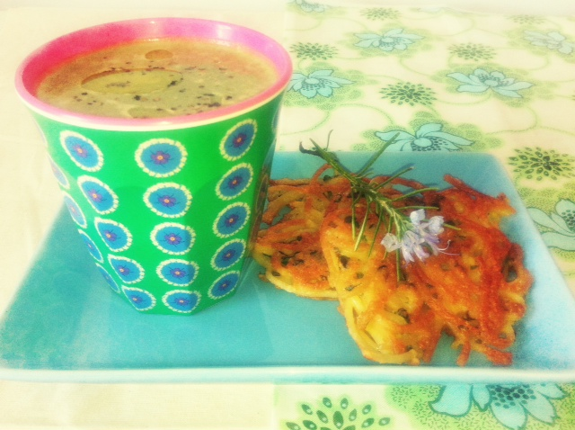 Green Leaf and Pea Soup  & Spaghetti Fritters Header