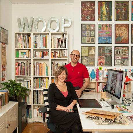 Ed & Mira in their studio