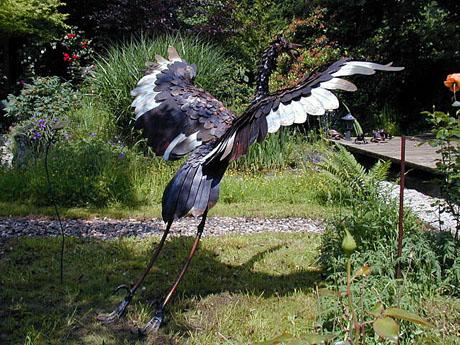 Heron sculpture by Michael Kusz