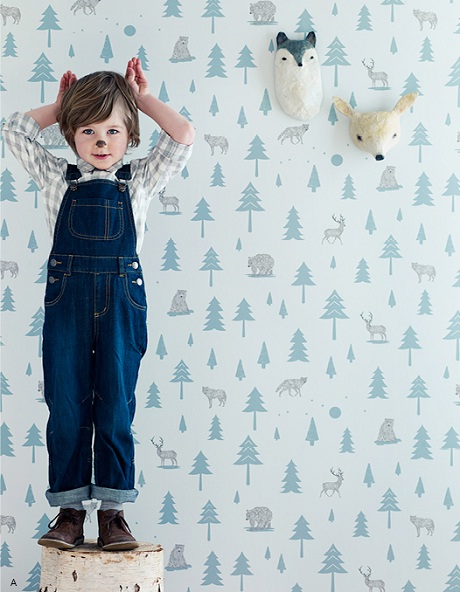 Hibou Home Scandi Chic Wallpaper for Children 1