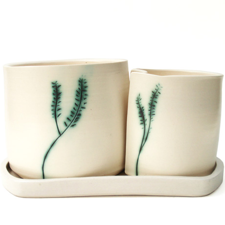 Holly Bell Double Planter