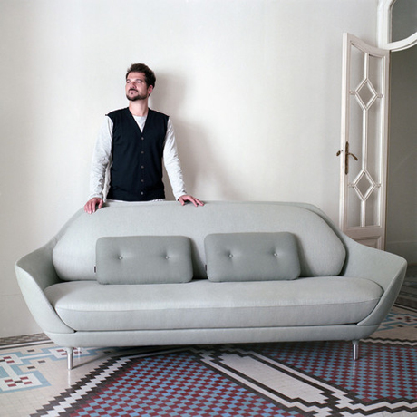 Jaime Hayon portrait with FAVN sofa
