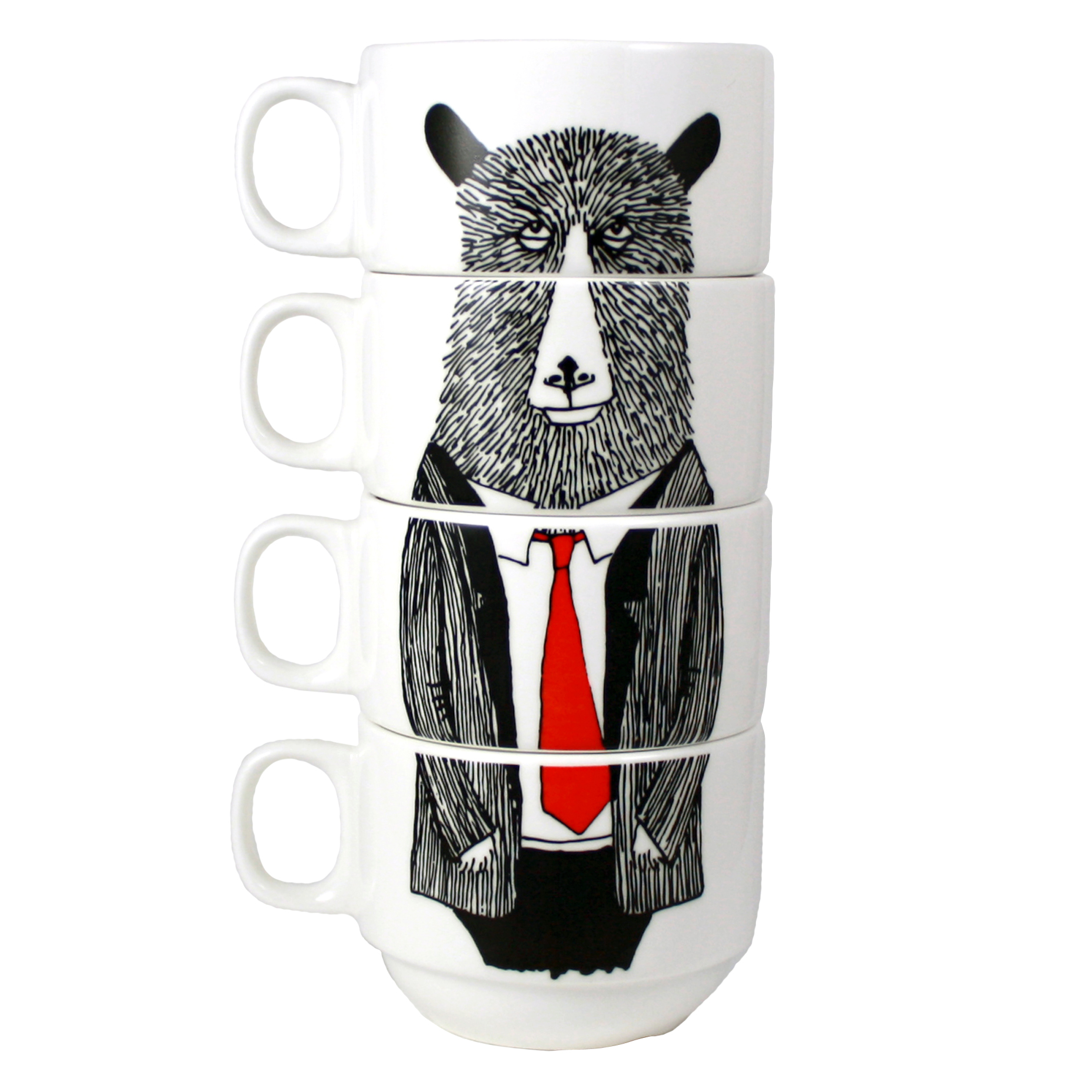 JimBobArt Coffee Cups_Mr Bear Cut Out_West Elm Local