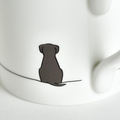 Jin Designs Sitting Dog Close Up