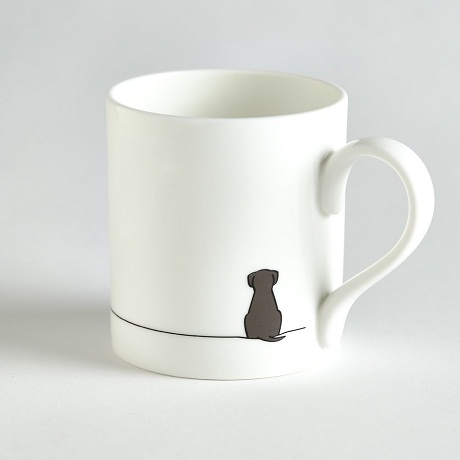Jin Designs Sitting Dog Mug