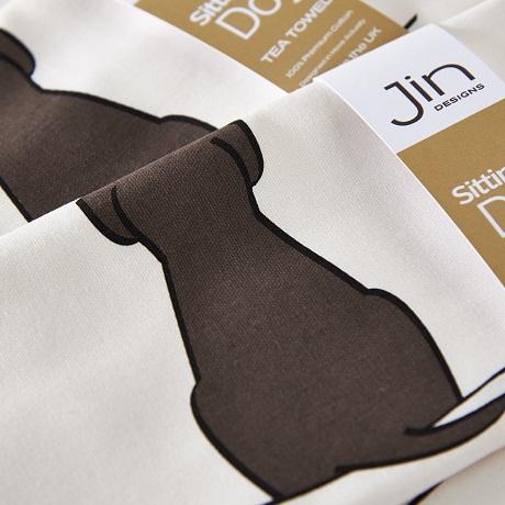 Jin Designs Sitting Dog T-Towels