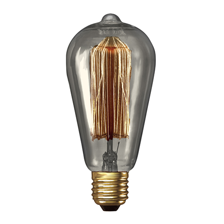 John Lewis Calex Decorative Bulb, Clear Rustic, 40W ES £12