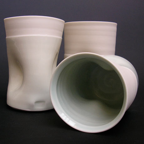 Karen Morgan Dimpled beakers