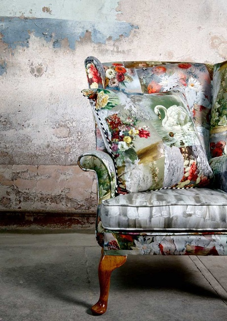 Limelace.co.uk MARCHÉ AUX PUCES FABRIC UPHOLSTERED VINTAGE CHAIR