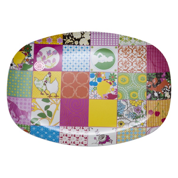 Melamine patchwork tray from Rice DK