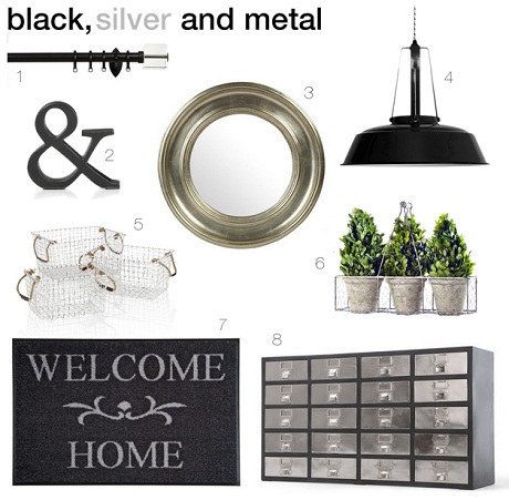 Make an entrance in black silver and metal