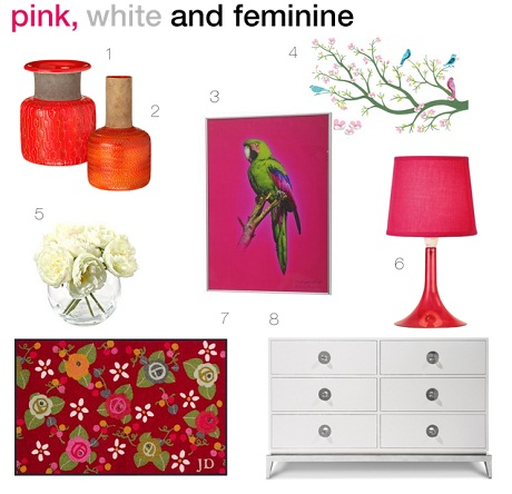 Make an entrance that's pink, white and feminine