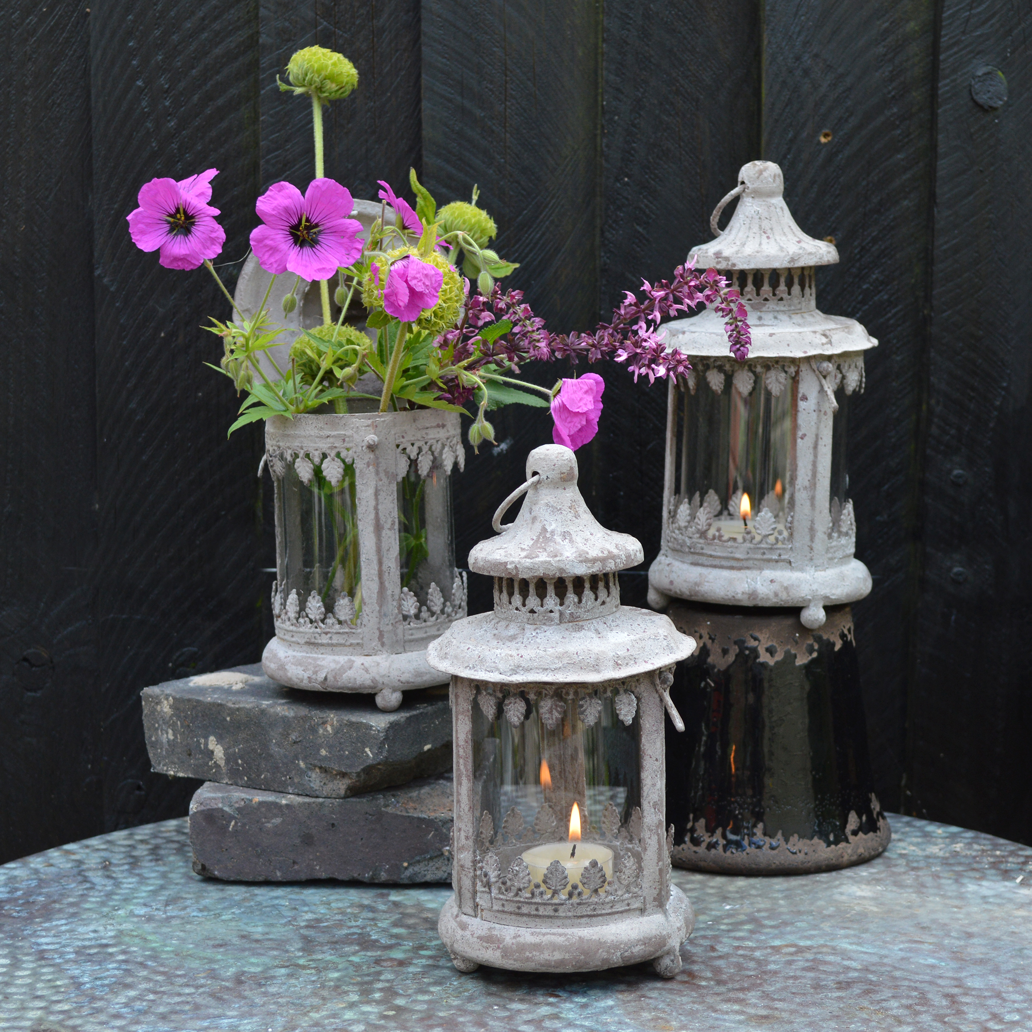 MiaFleur- Aged Lanterns £18 each (1)